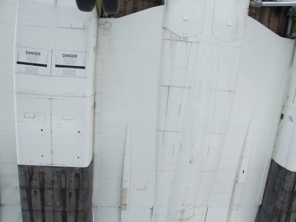 Concorde von unten
