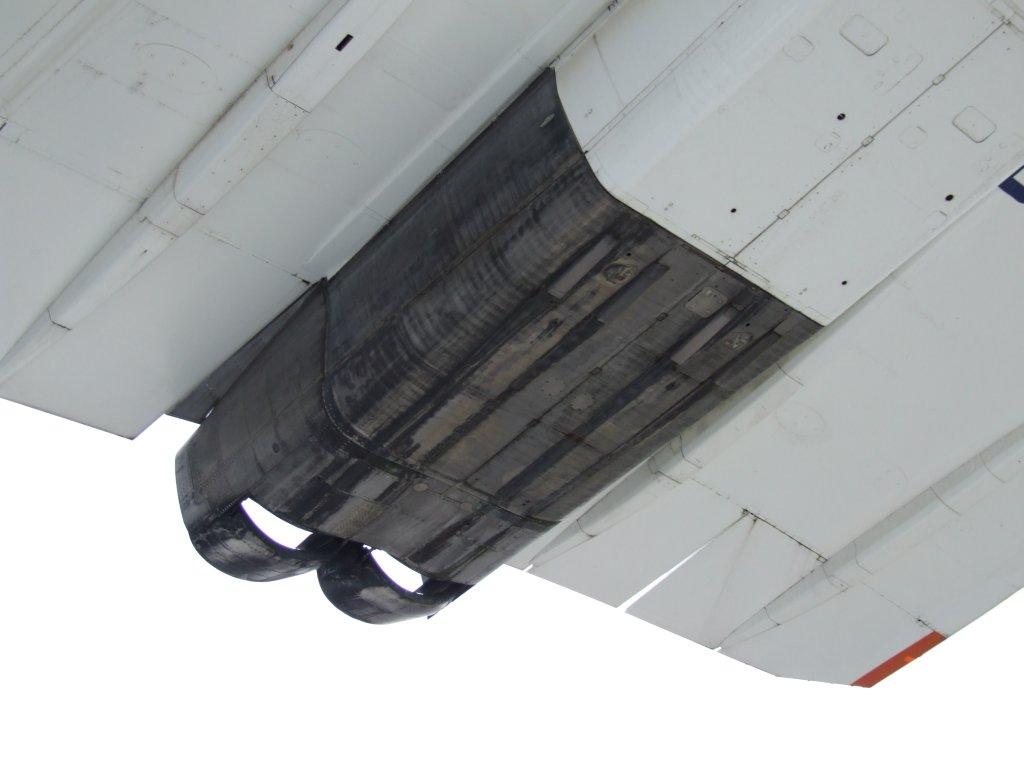 Triebwerke der Concorde von unten